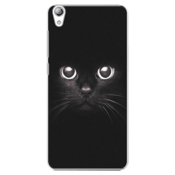 Plastové pouzdro iSaprio - Black Cat - Lenovo S850
