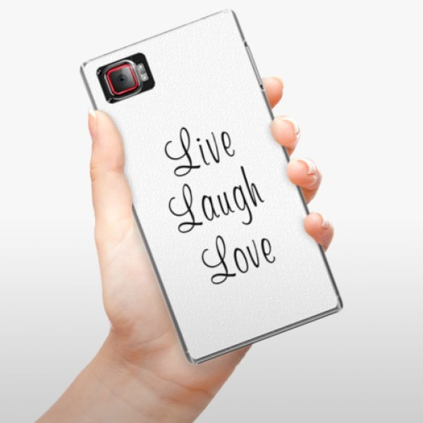 Plastové pouzdro iSaprio - Live Laugh Love - Lenovo Z2 Pro