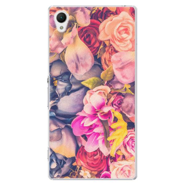 Plastové pouzdro iSaprio - Beauty Flowers - Sony Xperia Z1