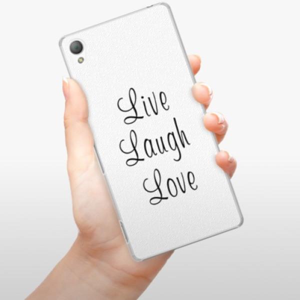 Plastové pouzdro iSaprio - Live Laugh Love - Sony Xperia Z3