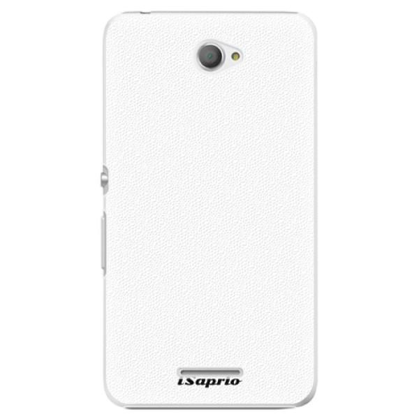 Plastové pouzdro iSaprio - 4Pure - bílý - Sony Xperia E4