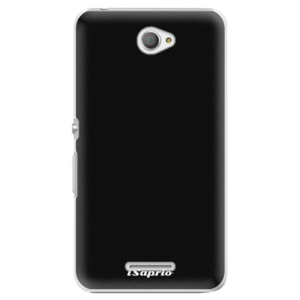Plastové pouzdro iSaprio - 4Pure - černý - Sony Xperia E4