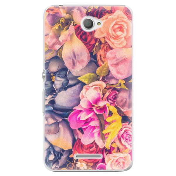 Plastové pouzdro iSaprio - Beauty Flowers - Sony Xperia E4