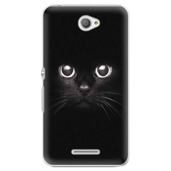 Plastové pouzdro iSaprio - Black Cat - Sony Xperia E4