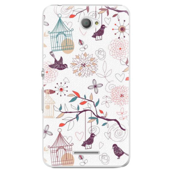 Plastové pouzdro iSaprio - Birds - Sony Xperia E4