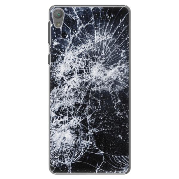 Plastové pouzdro iSaprio - Cracked - Sony Xperia E5