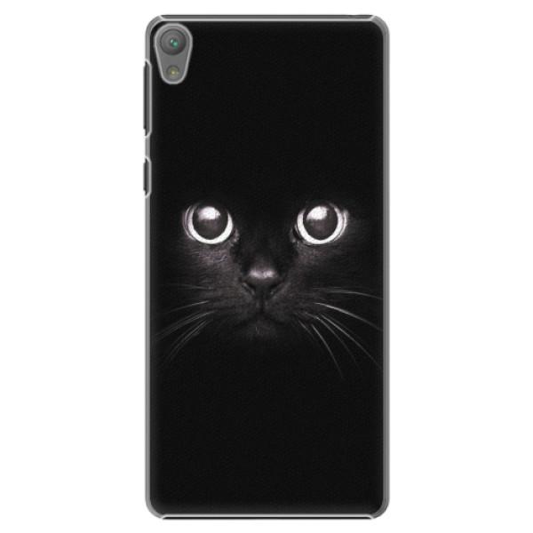 Plastové pouzdro iSaprio - Black Cat - Sony Xperia E5
