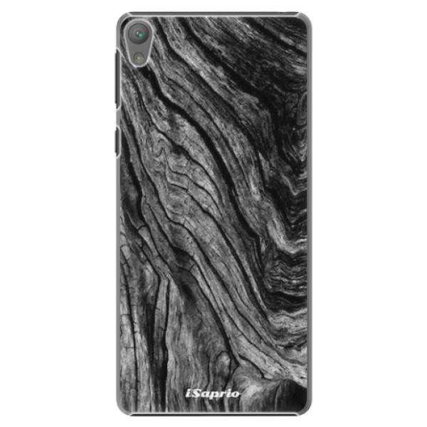 Plastové pouzdro iSaprio - Burned Wood - Sony Xperia E5