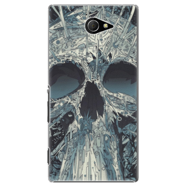 Plastové pouzdro iSaprio - Abstract Skull - Sony Xperia M2