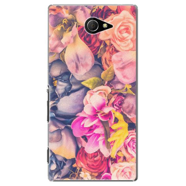 Plastové pouzdro iSaprio - Beauty Flowers - Sony Xperia M2