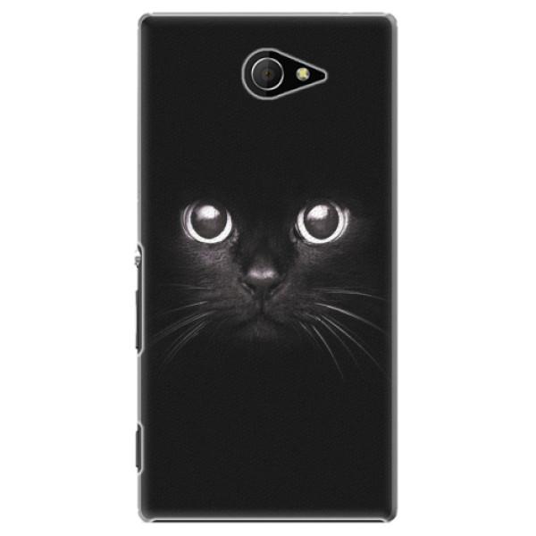 Plastové pouzdro iSaprio - Black Cat - Sony Xperia M2
