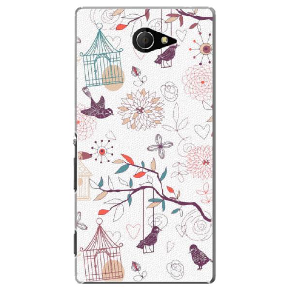 Plastové pouzdro iSaprio - Birds - Sony Xperia M2