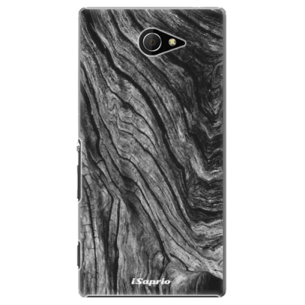 Plastové pouzdro iSaprio - Burned Wood - Sony Xperia M2