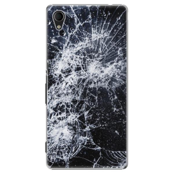 Plastové pouzdro iSaprio - Cracked - Sony Xperia M4