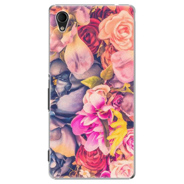Plastové pouzdro iSaprio - Beauty Flowers - Sony Xperia M4