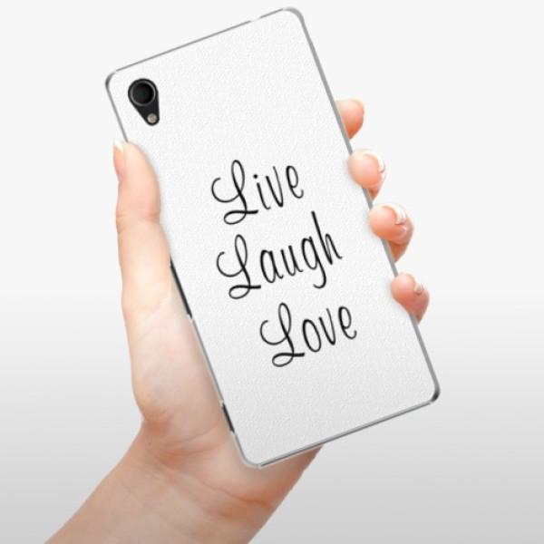 Plastové pouzdro iSaprio - Live Laugh Love - Sony Xperia M4