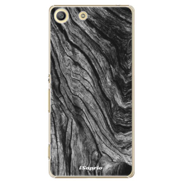 Plastové pouzdro iSaprio - Burned Wood - Sony Xperia M5