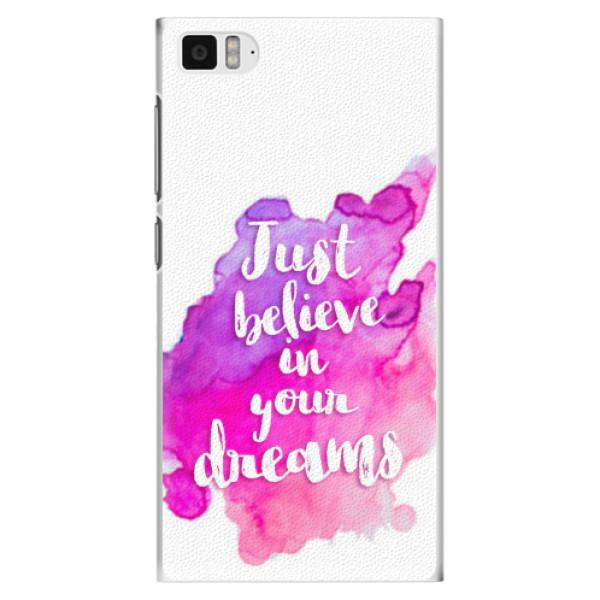 Plastové pouzdro iSaprio - Believe - Xiaomi Mi3