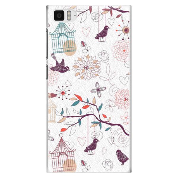 Plastové pouzdro iSaprio - Birds - Xiaomi Mi3