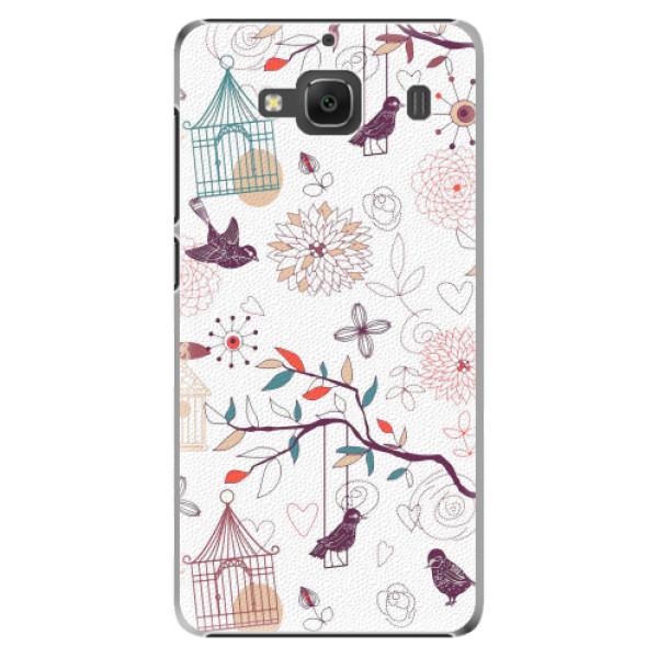 Plastové pouzdro iSaprio - Birds - Xiaomi Redmi 2