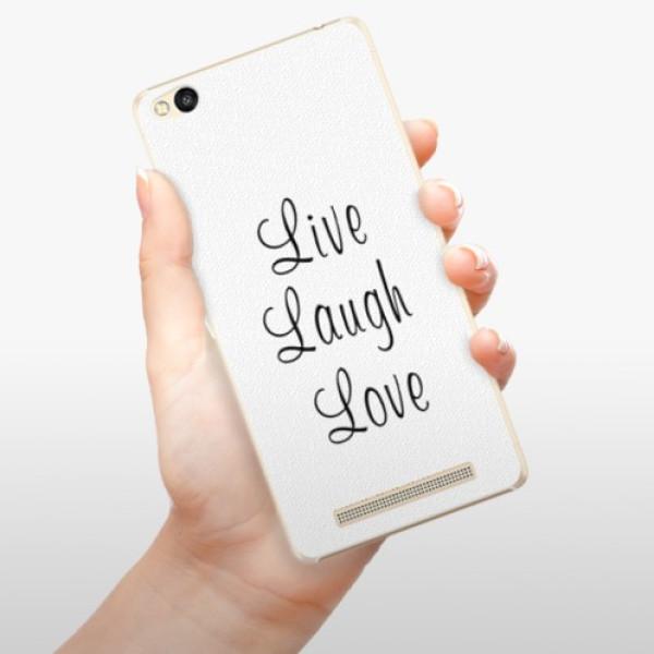 Plastové pouzdro iSaprio - Live Laugh Love - Xiaomi Redmi 3