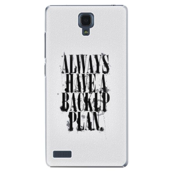Plastové pouzdro iSaprio - Backup Plan - Xiaomi Redmi Note
