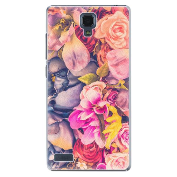 Plastové pouzdro iSaprio - Beauty Flowers - Xiaomi Redmi Note