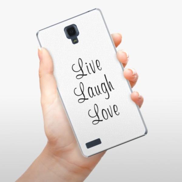 Plastové pouzdro iSaprio - Live Laugh Love - Xiaomi Redmi Note