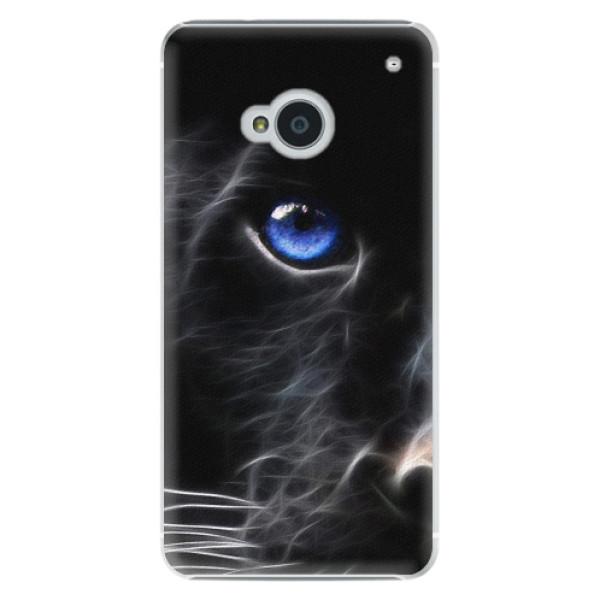 Plastové pouzdro iSaprio - Black Puma - HTC One M7