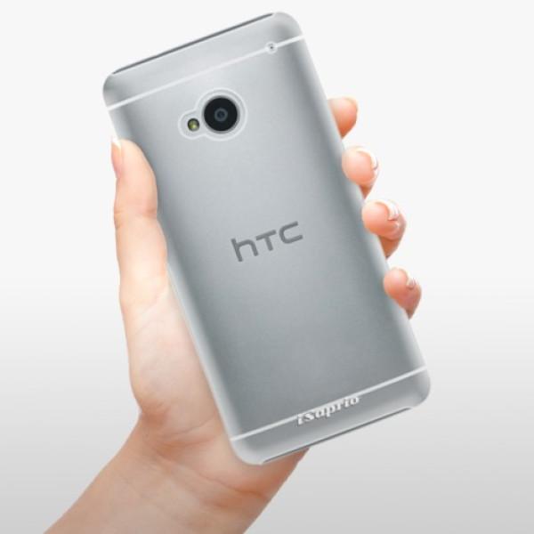 Plastové pouzdro iSaprio - 4Pure - mléčný bez potisku - HTC One M7