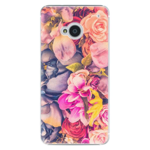 Plastové pouzdro iSaprio - Beauty Flowers - HTC One M7