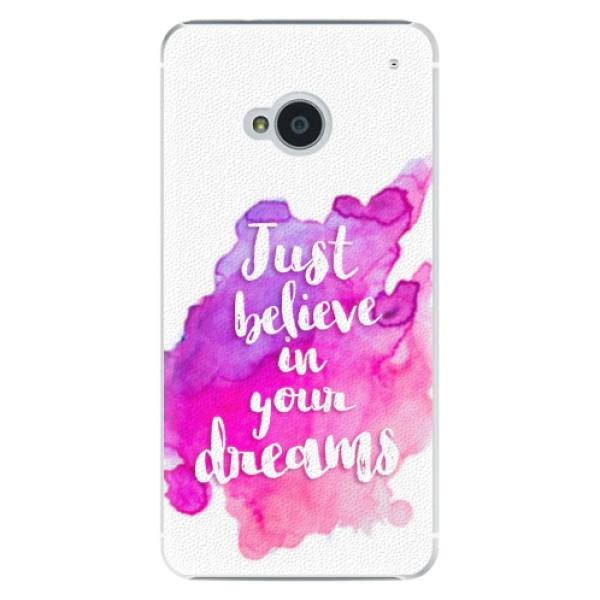 Plastové pouzdro iSaprio - Believe - HTC One M7