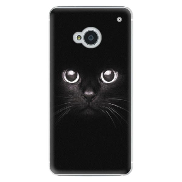 Plastové pouzdro iSaprio - Black Cat - HTC One M7