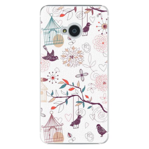 Plastové pouzdro iSaprio - Birds - HTC One M7