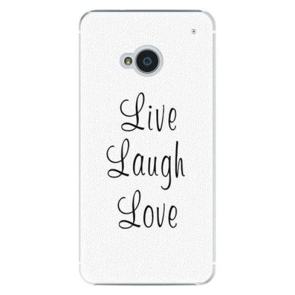 Plastové pouzdro iSaprio - Live Laugh Love - HTC One M7