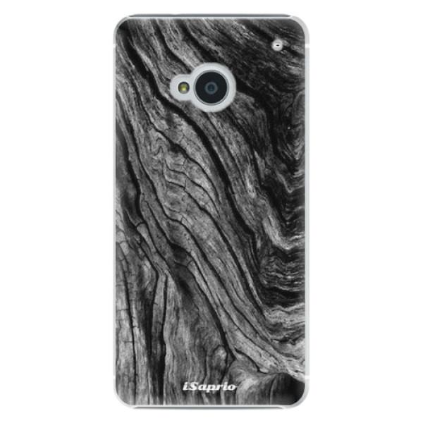 Plastové pouzdro iSaprio - Burned Wood - HTC One M7