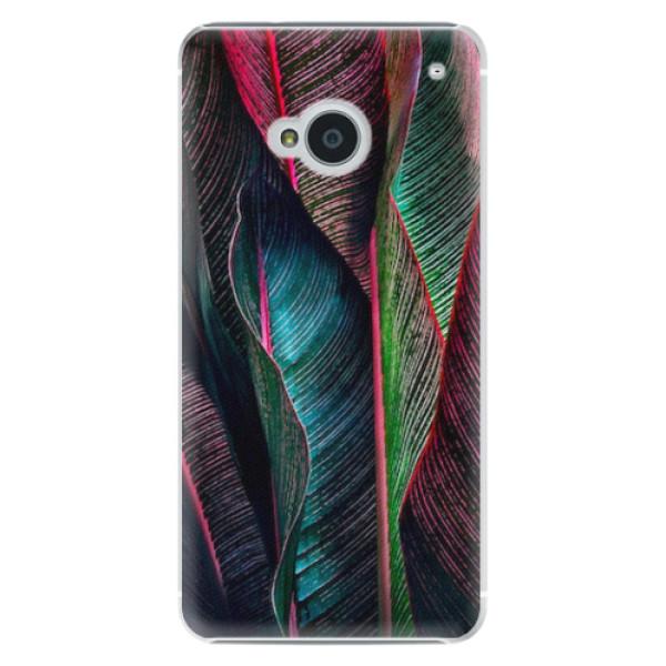 Plastové pouzdro iSaprio - Black Leaves - HTC One M7