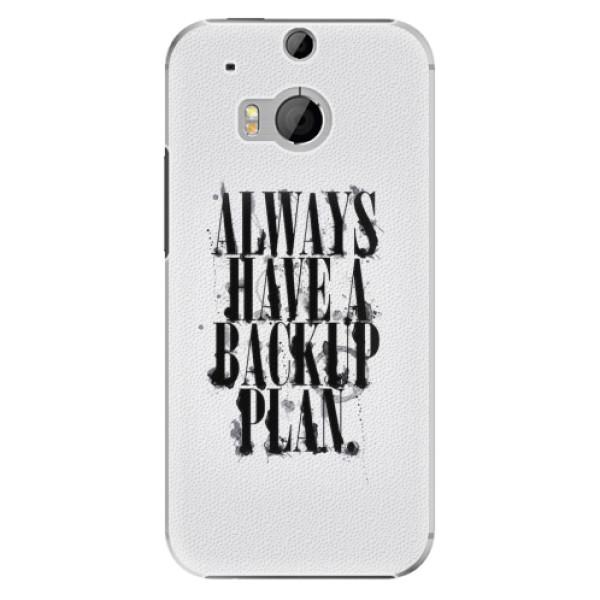 Plastové pouzdro iSaprio - Backup Plan - HTC One M8
