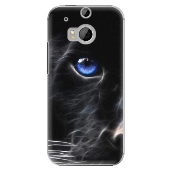 Plastové pouzdro iSaprio - Black Puma - HTC One M8