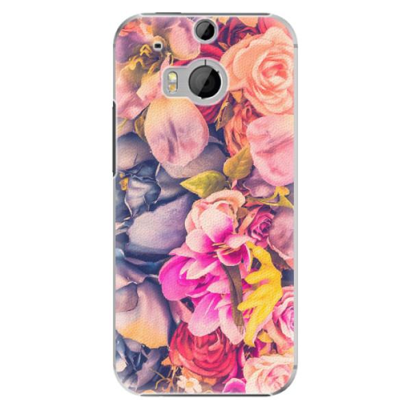 Plastové pouzdro iSaprio - Beauty Flowers - HTC One M8
