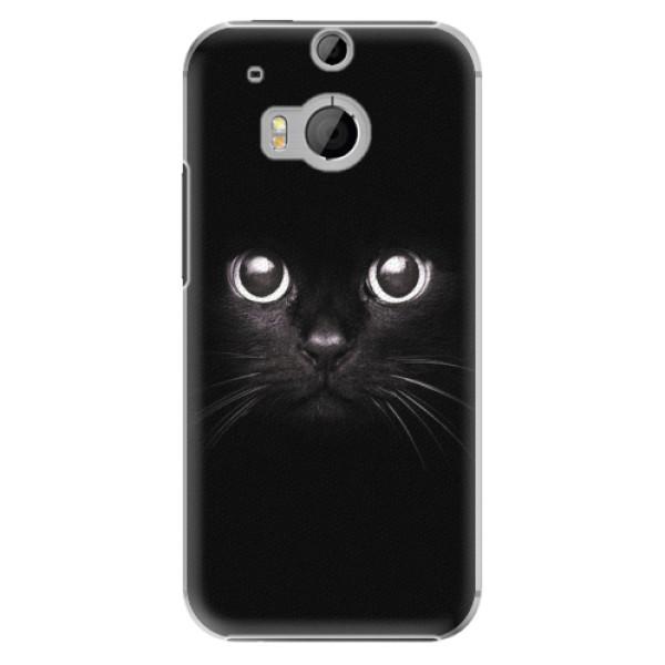Plastové pouzdro iSaprio - Black Cat - HTC One M8
