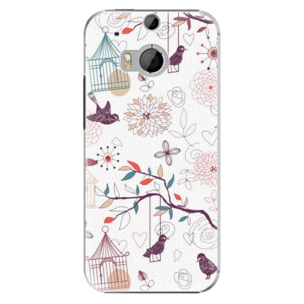 Plastové pouzdro iSaprio - Birds - HTC One M8