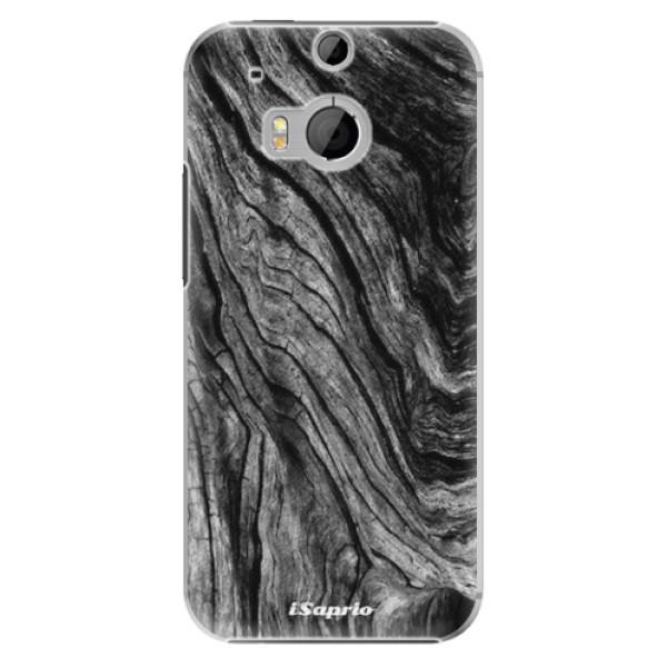 Plastové pouzdro iSaprio - Burned Wood - HTC One M8