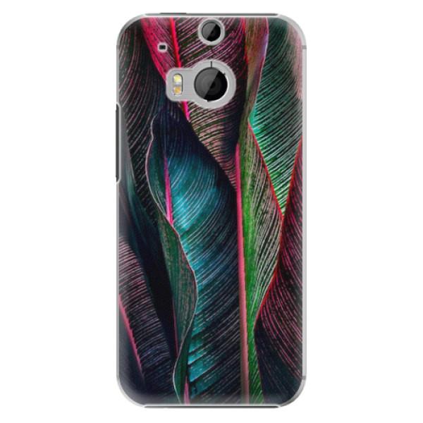 Plastové pouzdro iSaprio - Black Leaves - HTC One M8
