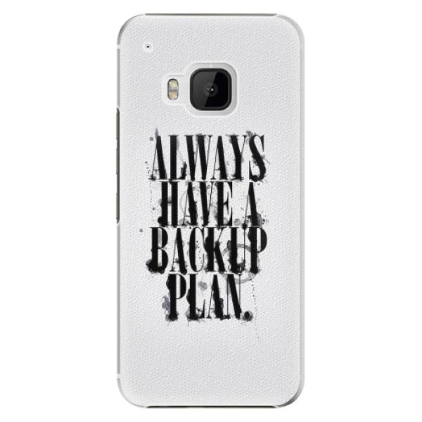 Plastové pouzdro iSaprio - Backup Plan - HTC One M9