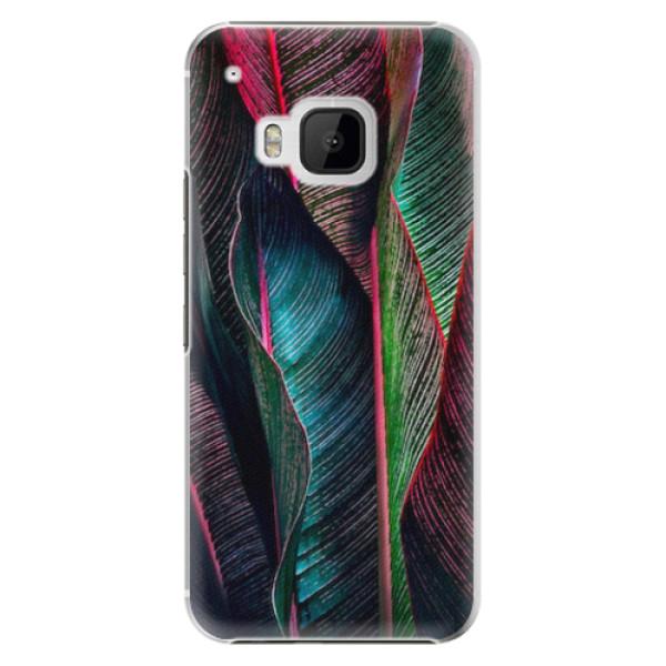 Plastové pouzdro iSaprio - Black Leaves - HTC One M9