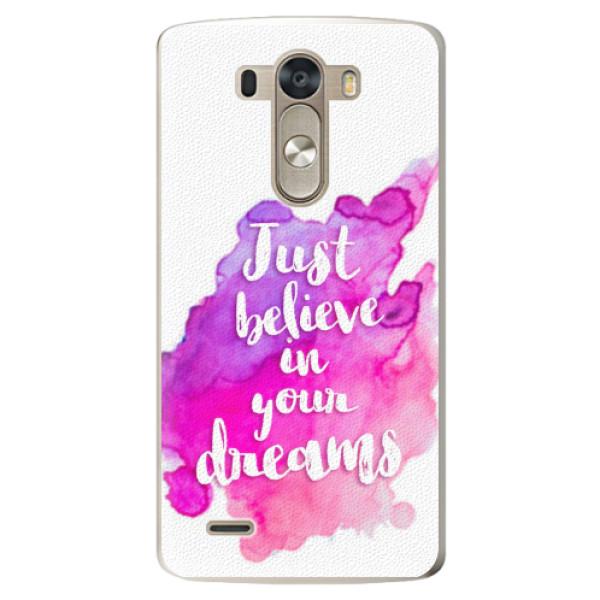 Plastové pouzdro iSaprio - Believe - LG G3 (D855)