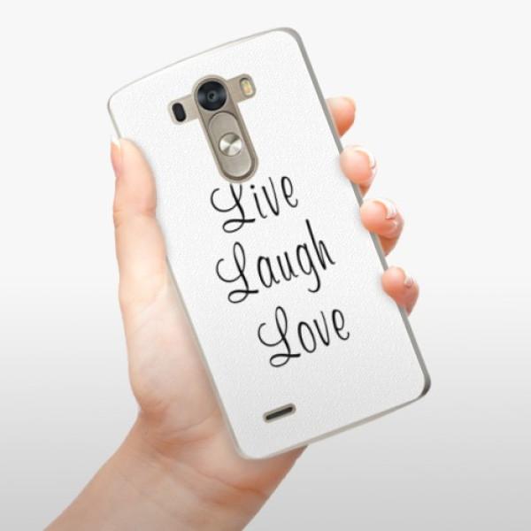 Plastové pouzdro iSaprio - Live Laugh Love - LG G3 (D855)
