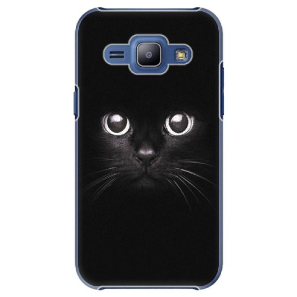 Plastové pouzdro iSaprio - Black Cat - Samsung Galaxy J1