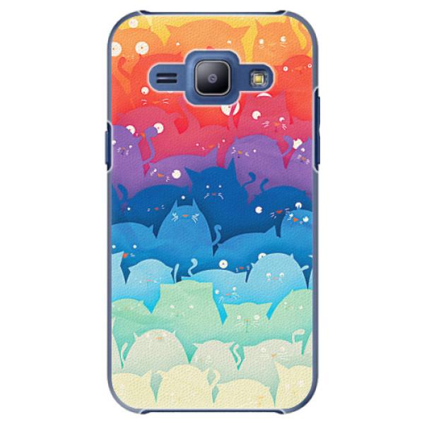 Plastové pouzdro iSaprio - Cats World - Samsung Galaxy J1